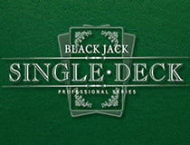 Blackjack Single Deck von NetEnt.