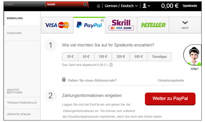 Online Casino Erste Einzahlung