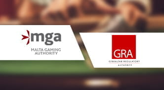 Die Logos der Malta Gaming Authority und des Gibraltar Gambling Commissioner.