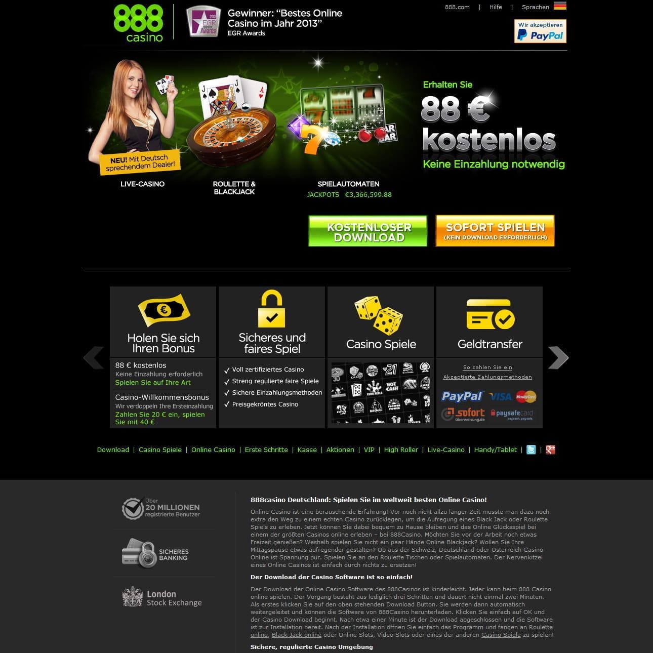 willkommensbonus 888 casino