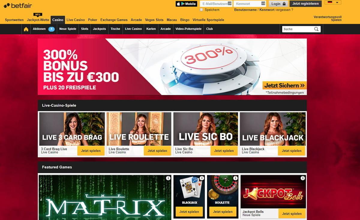 ... Betfair + Ruleta Europea Premium + Blackjack Clásico en Betfair