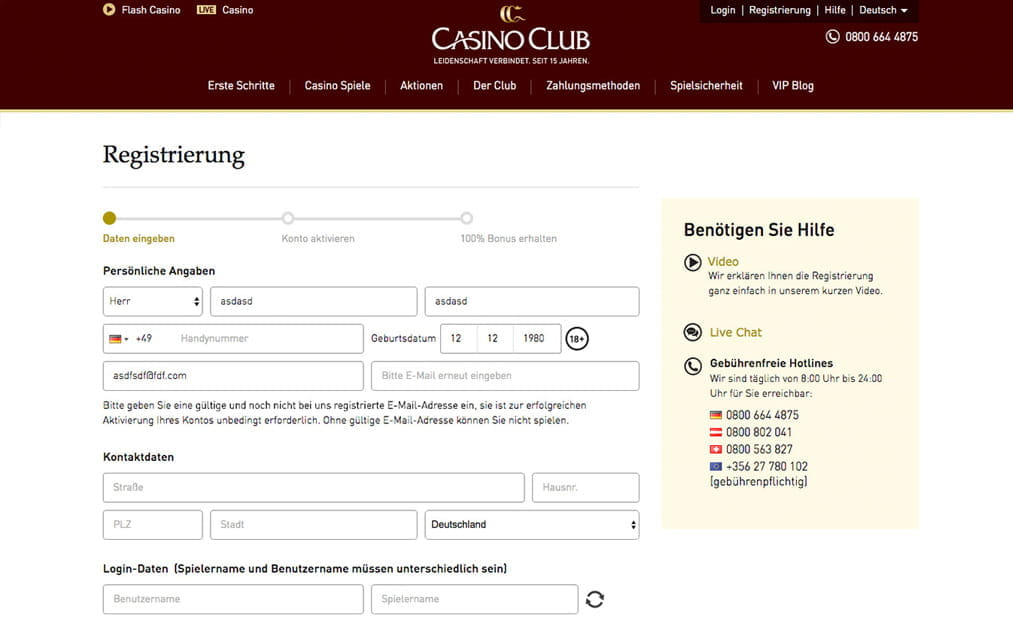 casino club deutsch
