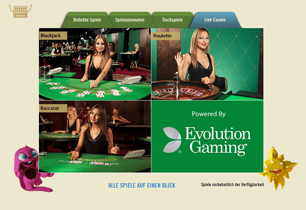 test online casino sizziling hot