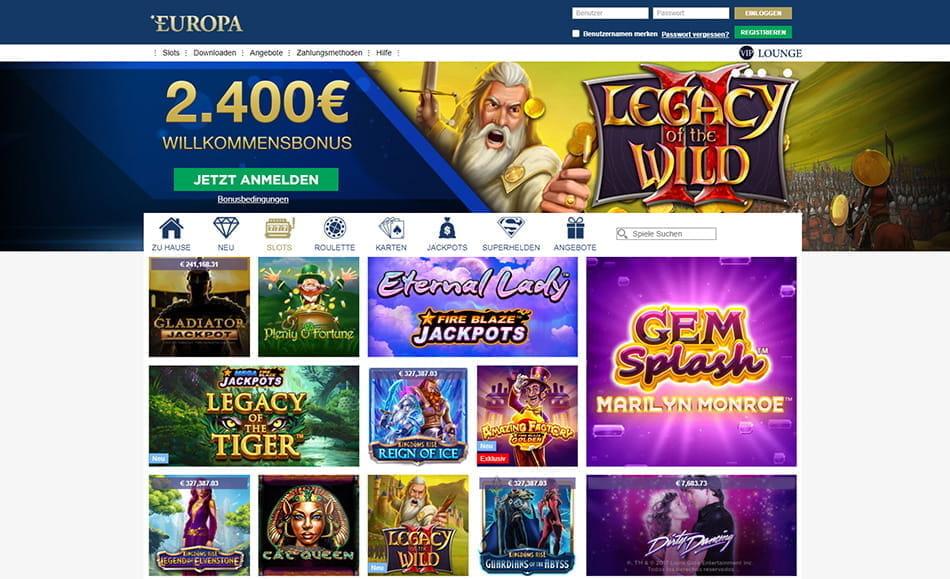 Bewertung europa casino sams casino