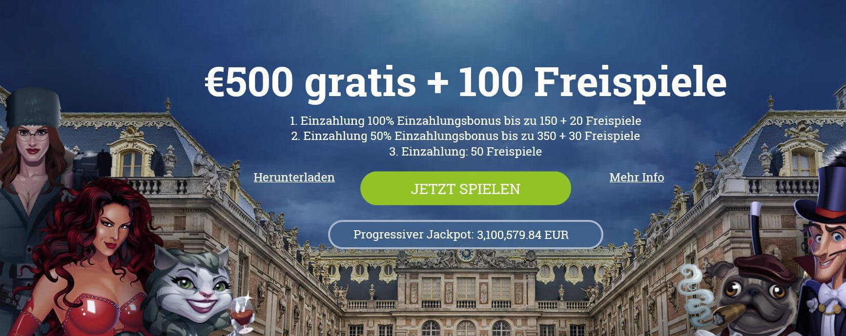 Europalace Casino Bonus