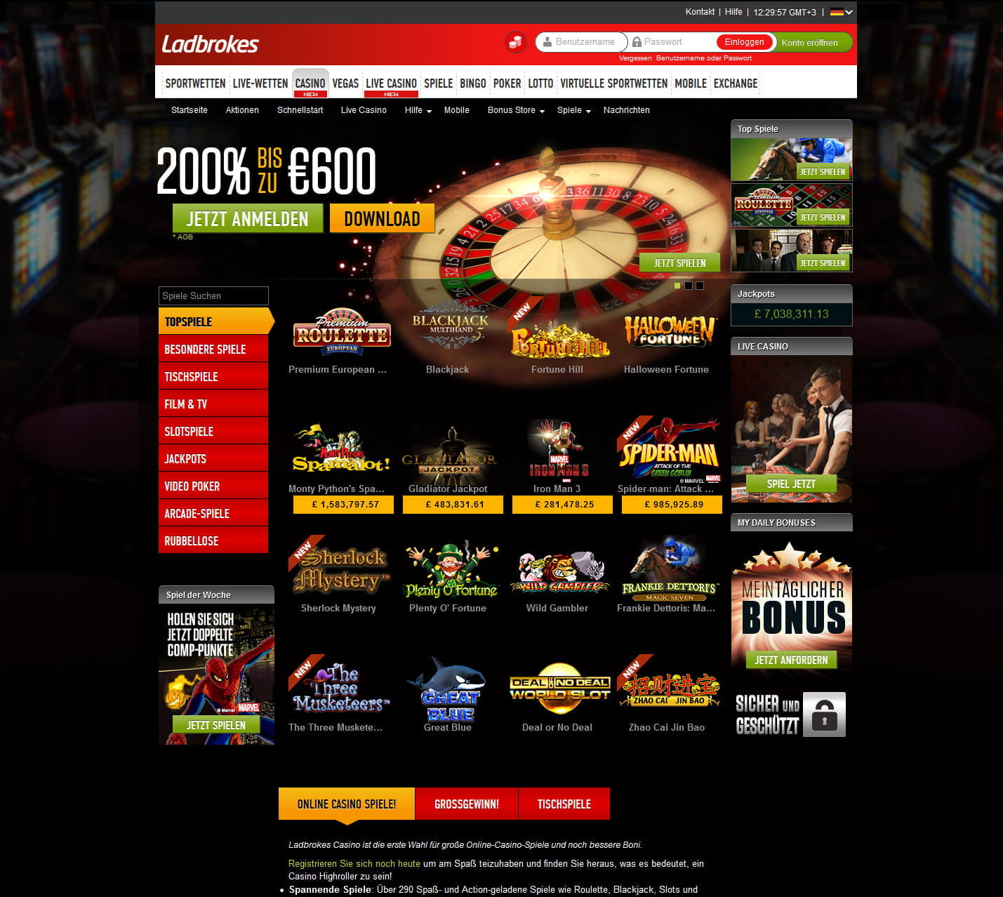 Www ladbrokescasino co mystic lake casino hotel in