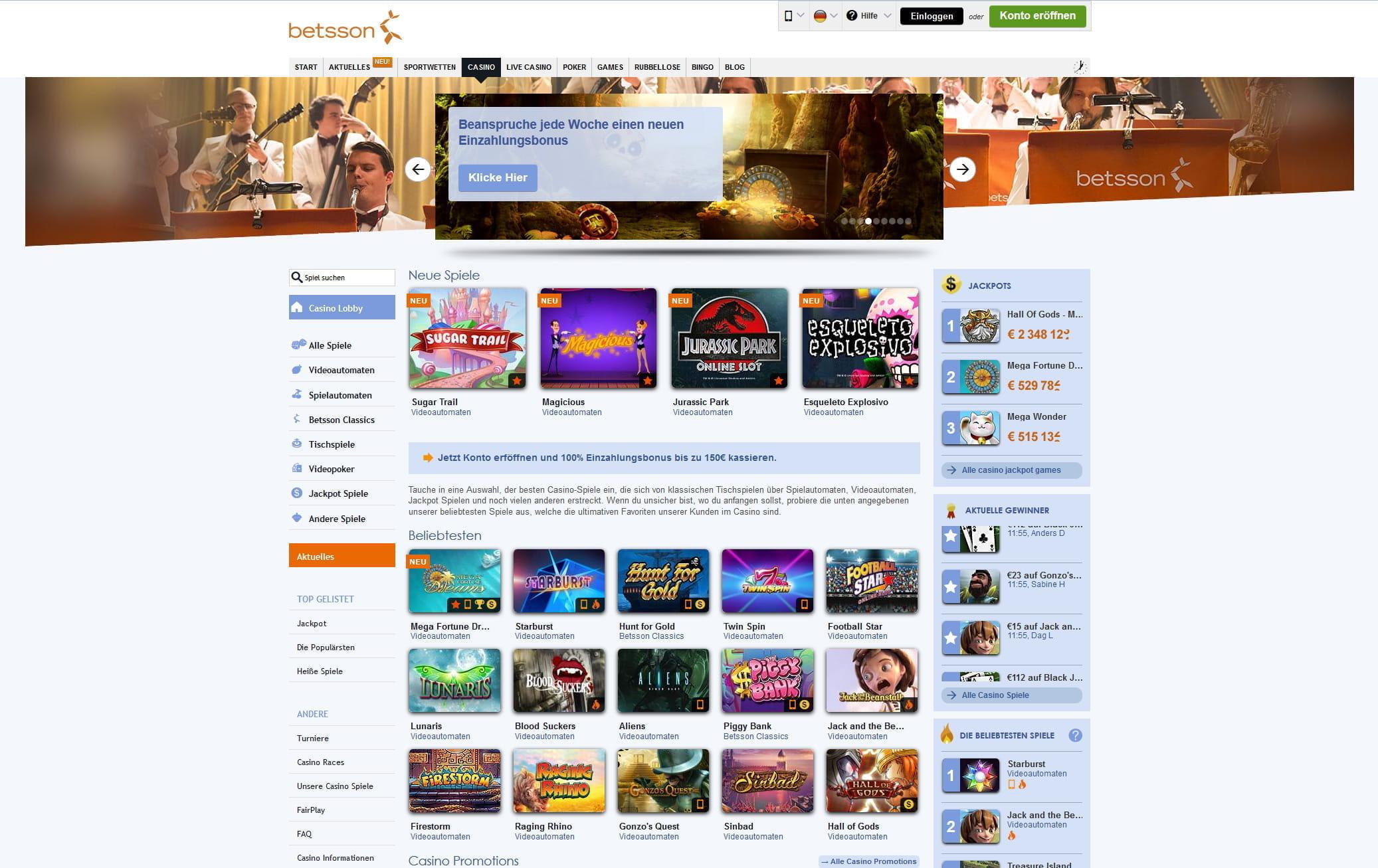 betsson casino online spiele