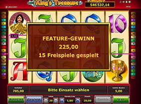 Freispiele am King's Treasure Online Jackpot Slot