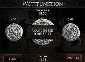 Die Wettfunktion beim Game of Thrones Spielautomaten