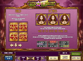 Vorschaubild Features Lucky Lady Slot