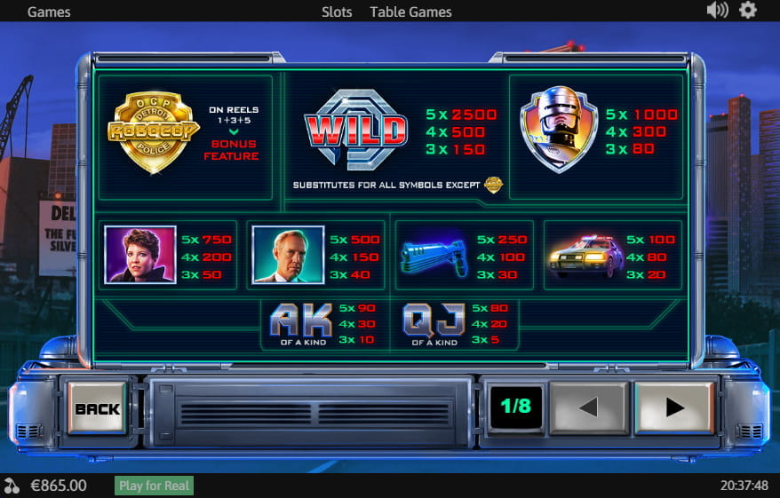 Spiele Robocop - Video Slots Online