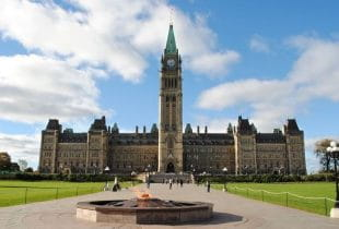 Das kanadische Parlament.