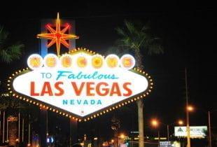 Ein Schild mit der Aufschrift Las Vegas.
