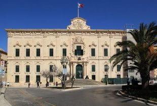 Der Regierungspalast in der maltesischen Hauptstadt Valletta.