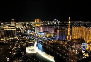 Das Bild zeigt die Skyline von Las Vegas.