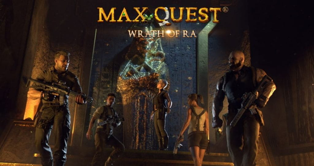 Das Titelbild des Video Slots Max Quest - Wrath of Ra.