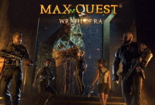Das Logo des Video Slots: Max Quest.