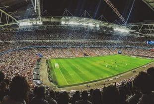 Ein Fußballfeld