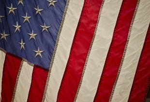 US-amerikanische Flagge.