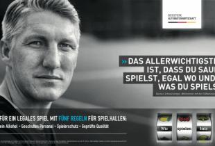 Ein Ausschnitt eines TV-Spots der deutschen Automatenwirtschaft mit Bastian Schweinsteiger.