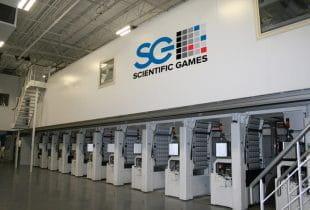 Eine Manufaktur für Lottoscheine des US-Unternehmens Scientific Games Corporation