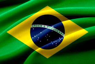 Grafik einer wehenden brasilianischen Nationalflagge.
