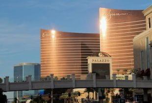 Das Wynn Casino im Sonnenschein in Las Vegas.
