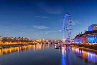 Panaroma vom London Eye.