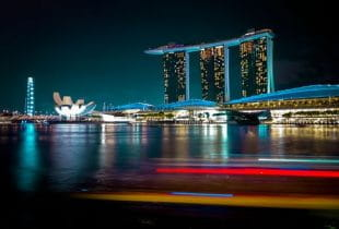 Panaroma des Marina Bay Sands Resorts in Singapur.