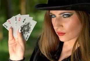 Pokerspielerin.