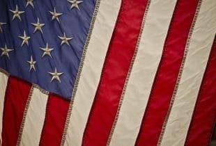 Flagge der Vereinigten Staaten.