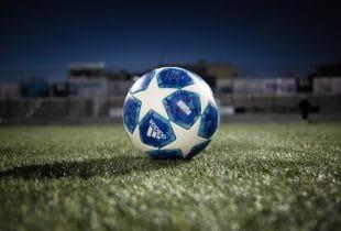 Ball auf einer Rasenfläche.